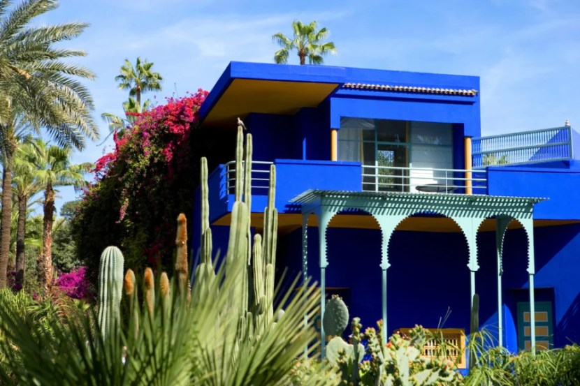 The beautiful Majorelle Gardens. Photo courtesy of Shutterstock.