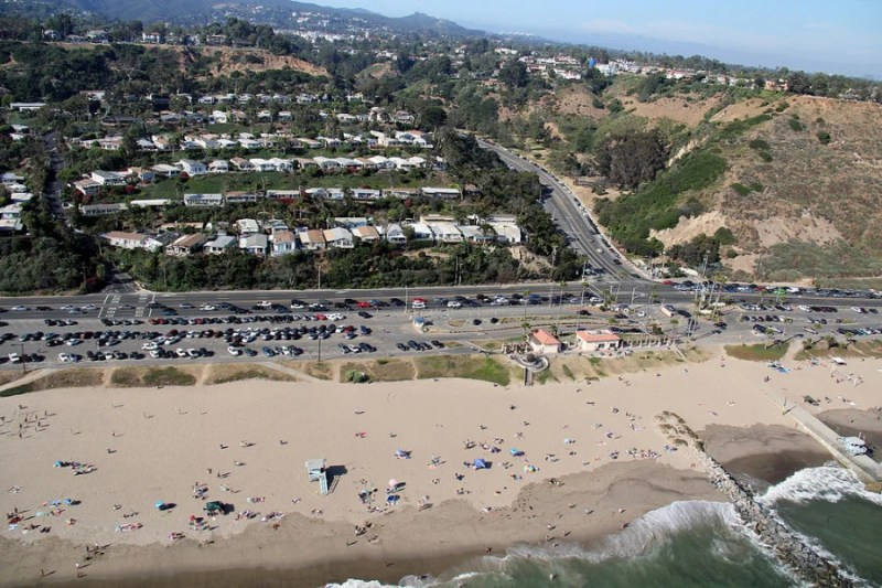 Will Rogers State Beach in Santa Monica, California.