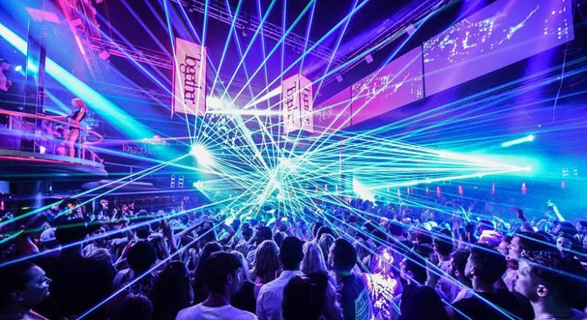 Ibiza is known for a wild nightclub scene, replete with spectacular light shows — like you'll find at Amnesia.