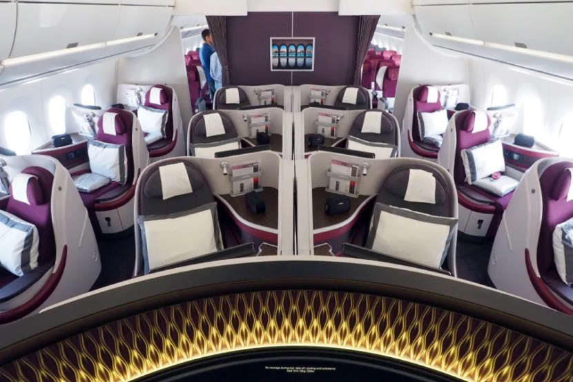 The second business-class cabin is much smaller, with only 12 seats.