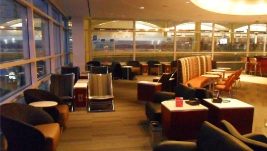 Washington National Airport's newly renovated Admirals Club lounge.