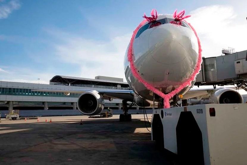 Even the plane got primped!