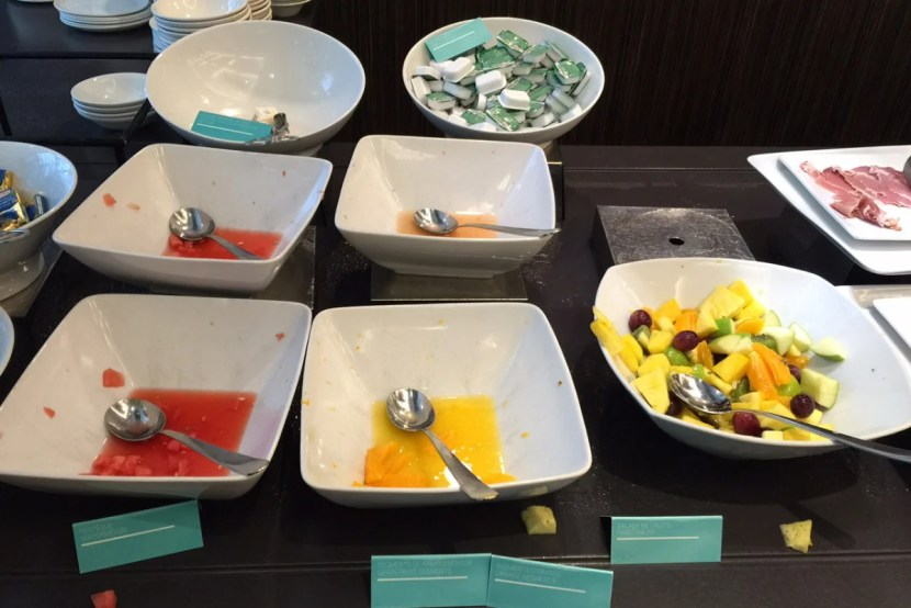 Items were often not replaced quickly at the breakfast buffet.