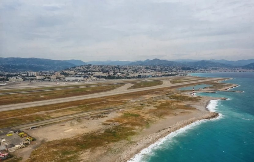 Taking off from Nice.