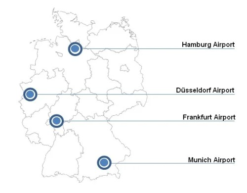 EasyPASS is available in these German airports.