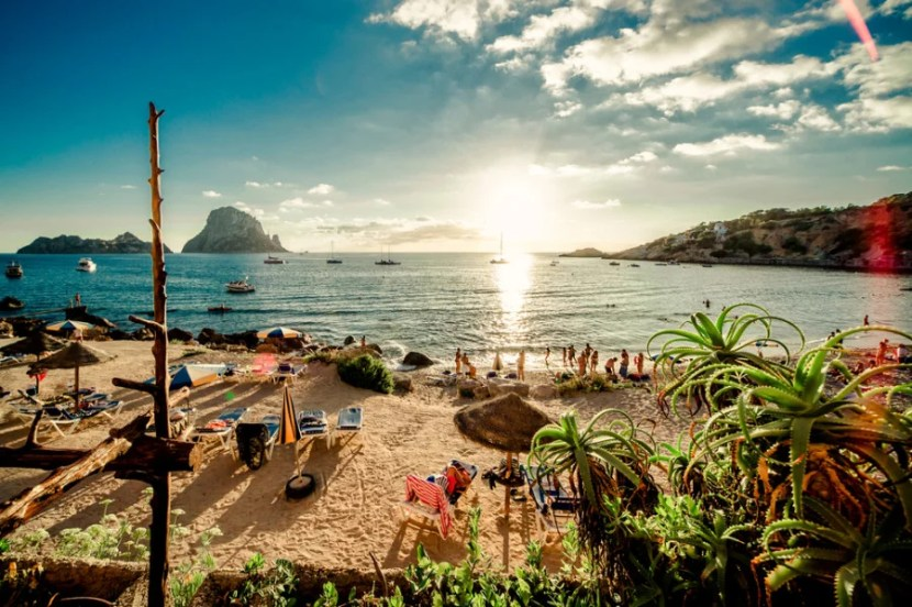 Ibiza's Cala d'Hort Beach is waiting for you. No, really. Photo courtesy of Shutterstcok.