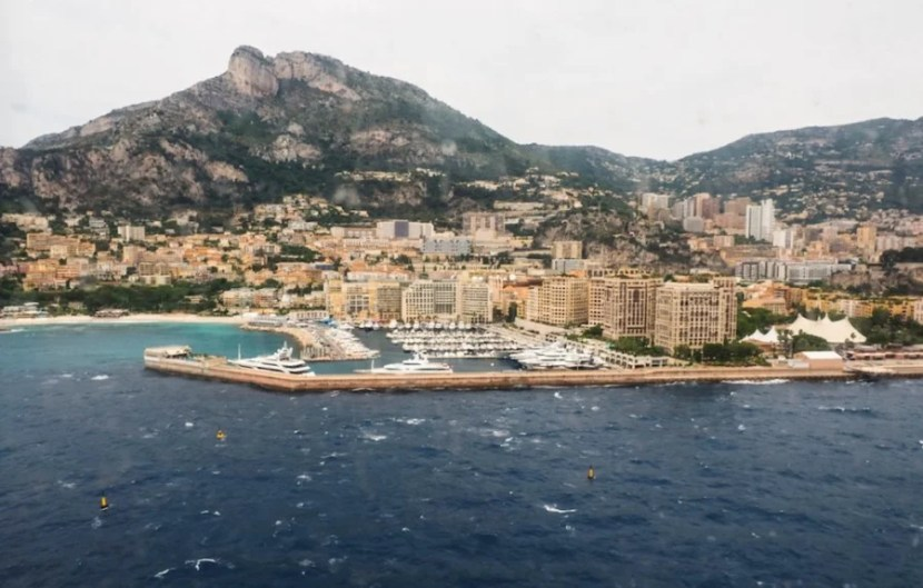 Coming in to Monaco.