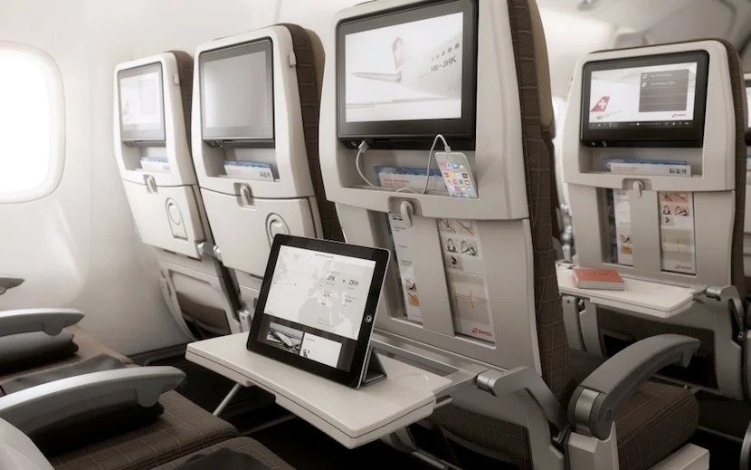 Seats will feature large touchscreen IFEs.