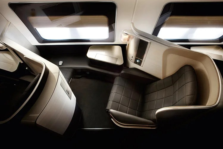 British Airways' new Boeing 787-9 features a newer first-class product than this older seat pictured.