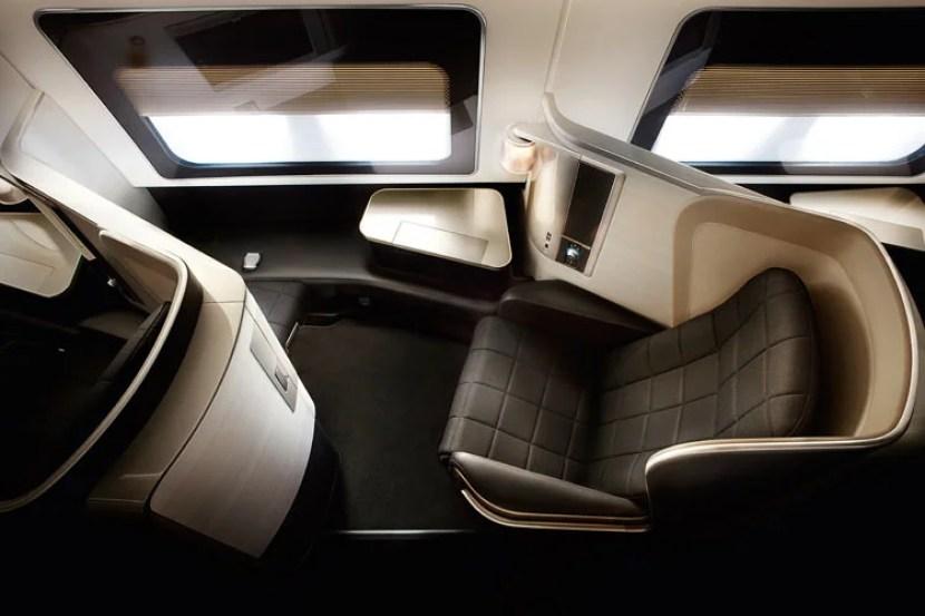 A British Airways first-class seat.