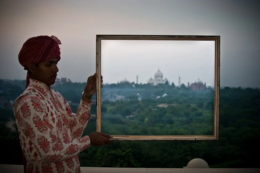 Traditional Indian hospitality at the Oberoi Amarvilas, ranked one of the best hotels in the world by Travel & Leisure
