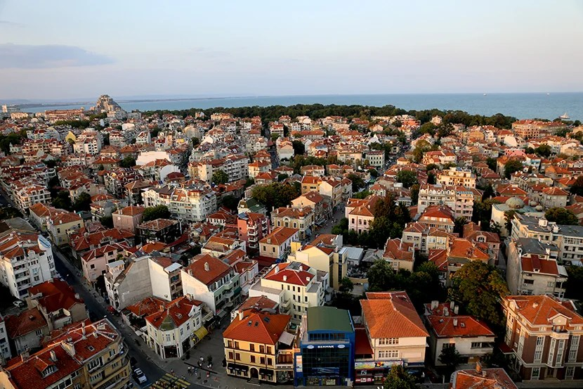 Rooftop view of Burgas.