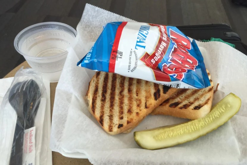 This panini was much better than the one in Chicago — but not great.