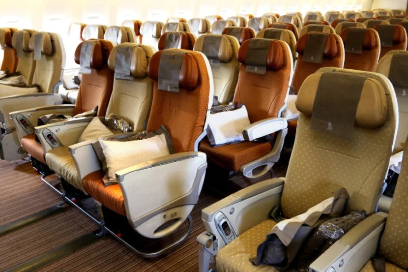 Choose bulkhead seats in rows 31 or 44 for extra legroom. Photo by T.C. Baker/Newscast Creative.