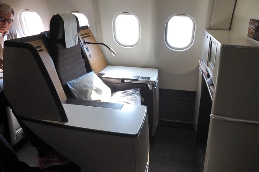 The A330 has an odd configuration, with some seats offering much more space than others.