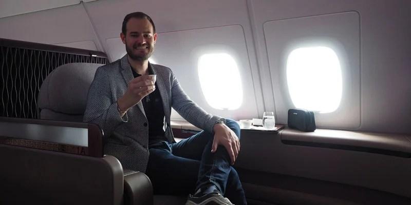 The Qatar seats are super comfortable.