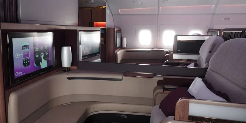 Qatar's first-class seat is super comfy.