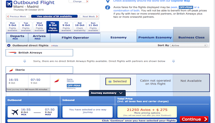 Two nonstop flights Miami to Madrid are often overlooked during transatlantic award searches.