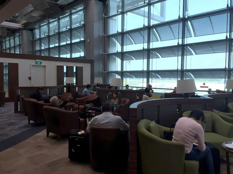 The main area at the Dnata lounge.