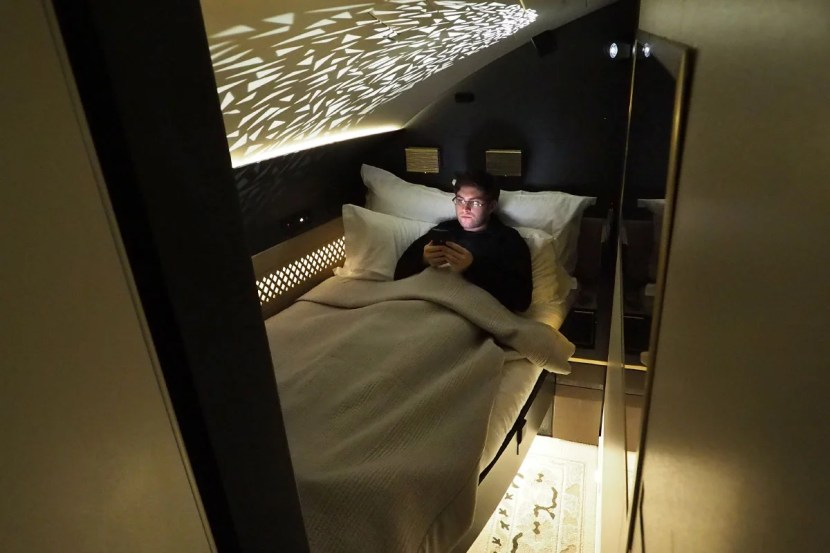 Etihad A380 The Residence - In Bed