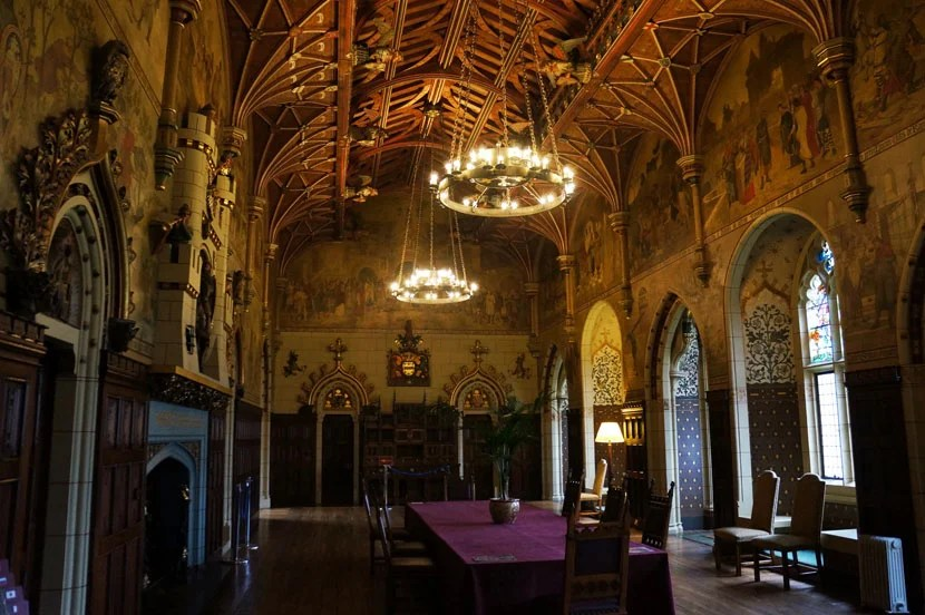 The castle's dining room isn't too shabby, either.