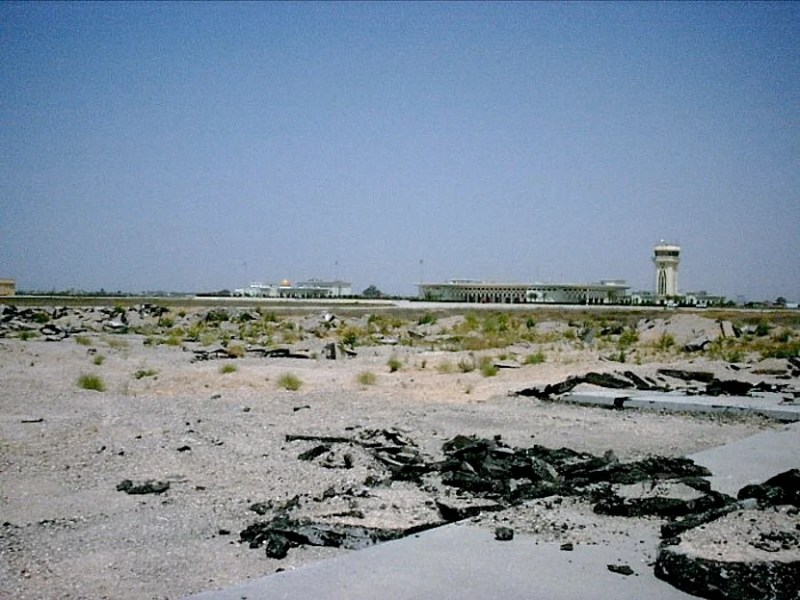 Not much is left of Gaza's airport. Photo credit: Edward.