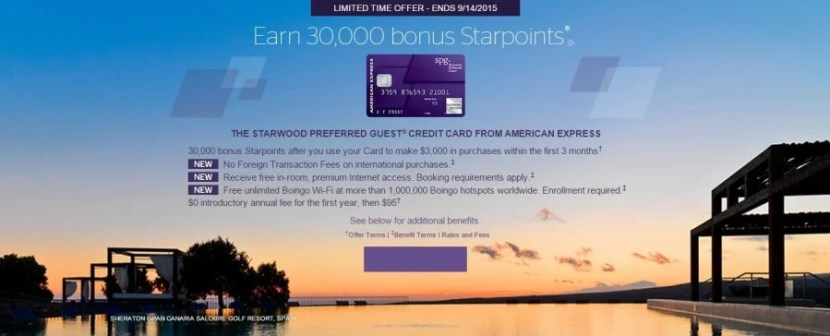 Amex recently increased thesign-up bonus for the Starwood card for a limited time.