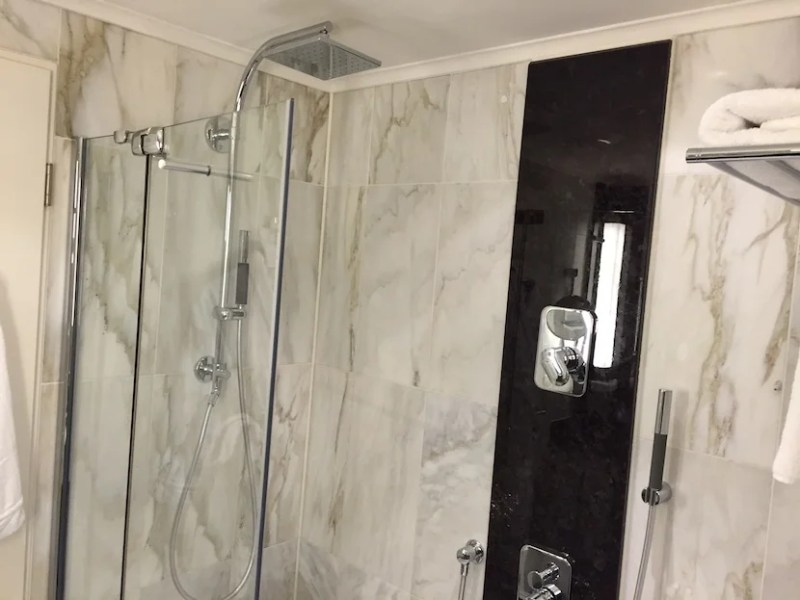The shower-tub combo.
