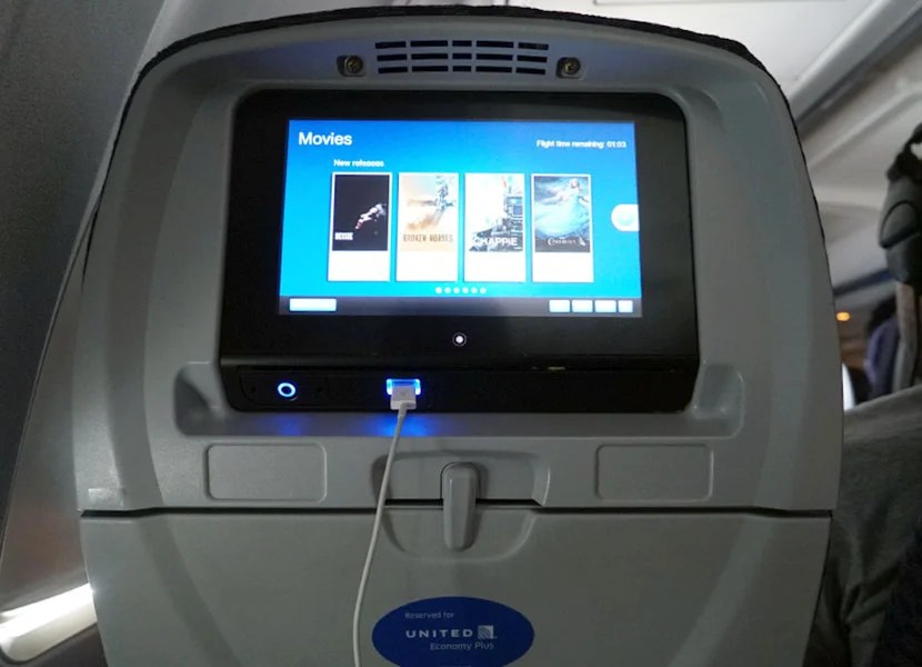 My in-flight entertainment.