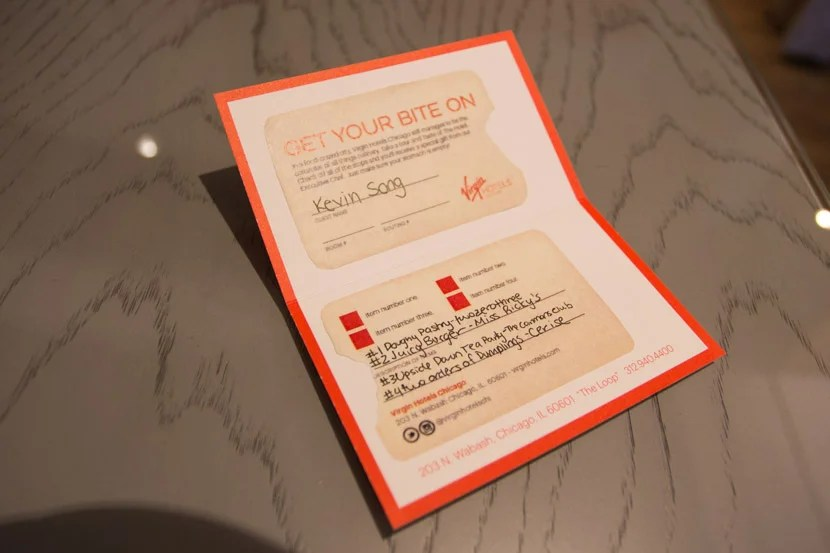 """Since I booked the """"Get Your Bite On"""" rate, I got this nice card to collect a tasting from each restaurant at the hotel."""