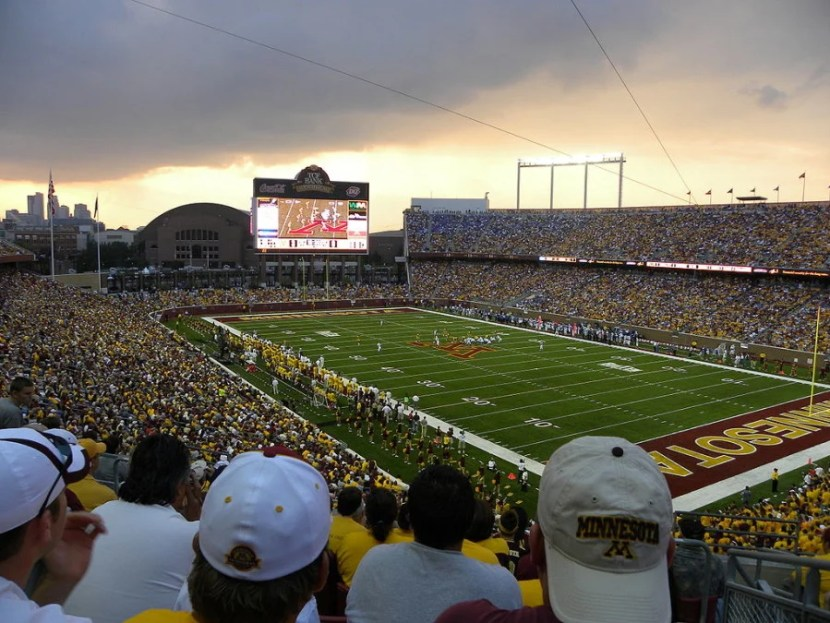 TCF Bank Stadium in Minneapolis, Minnesota.
