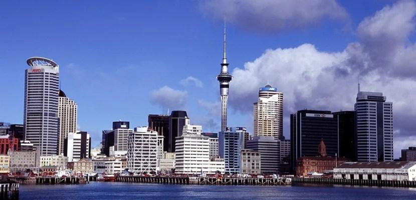 Auckland, New Zealand skyline.