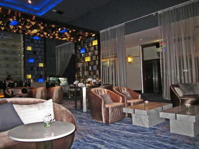 The Bangkok Airways Blue Ribbon Lounge, where you can wait before the movie starts