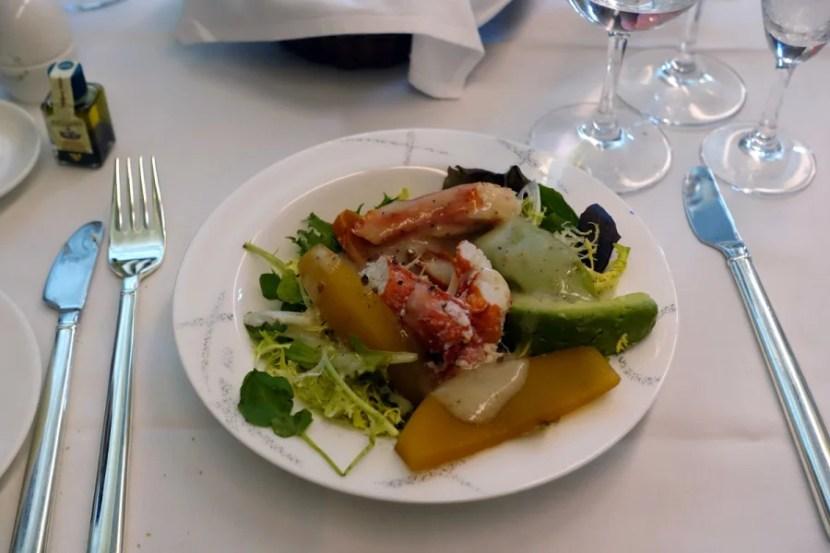 Crab and avocado salad.