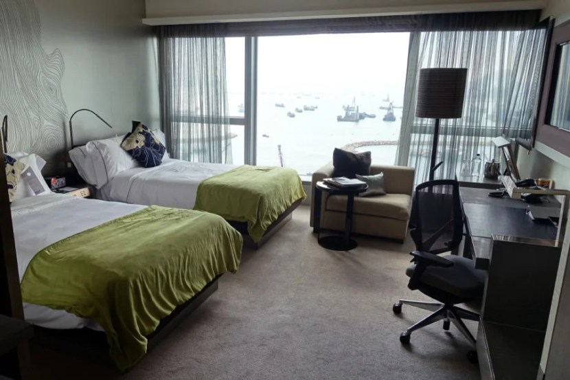 Our Wonderful room with two double beds.