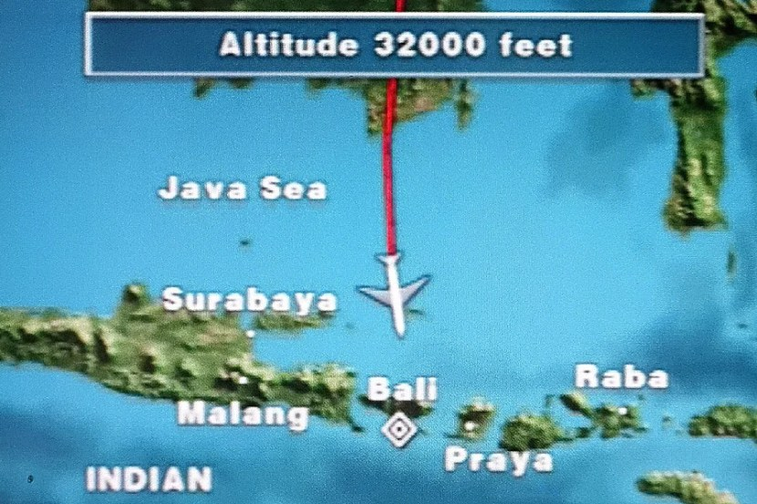 It's a four-hour trip from Hong Kong to Bali.