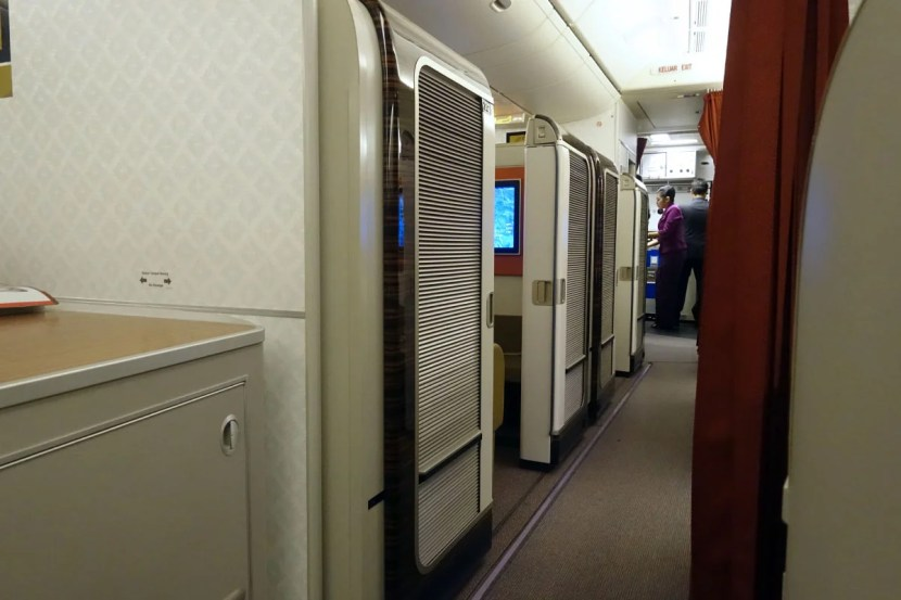 The view of first class from my business seat.