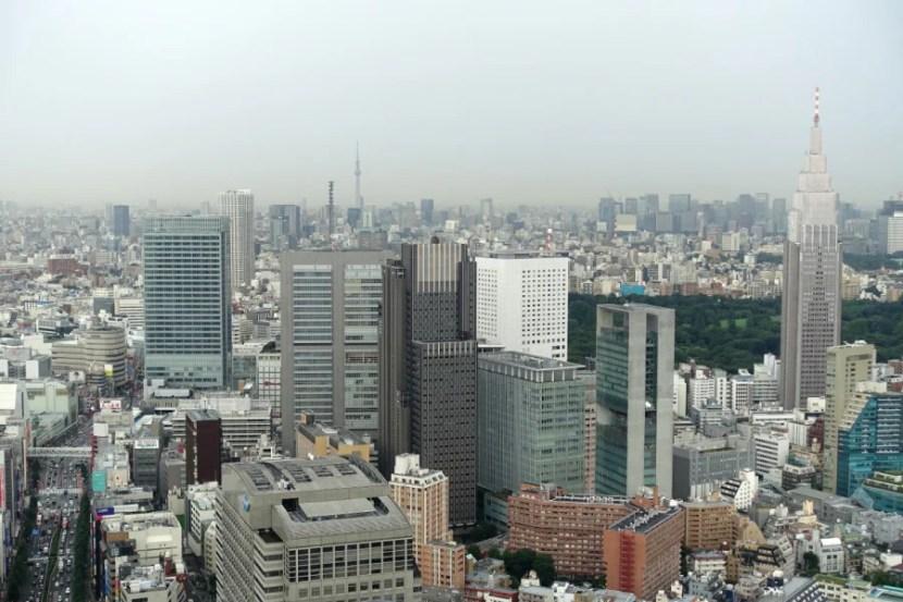 Phenomenal views of Shinjuku from the living room.
