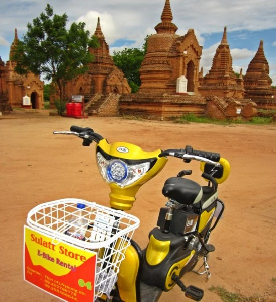 E-bikes are great way to explore the temples