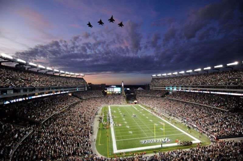 Gillette Stadium in Foxborough, Massachusetts