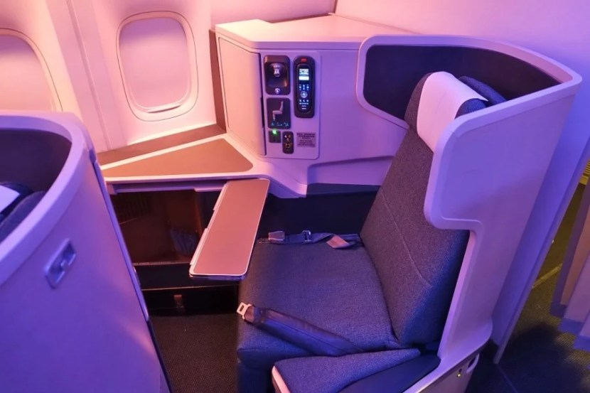 There's a big difference between business on CX's 777-300ER (above) and what we flew on the 777-300 (non-ER).
