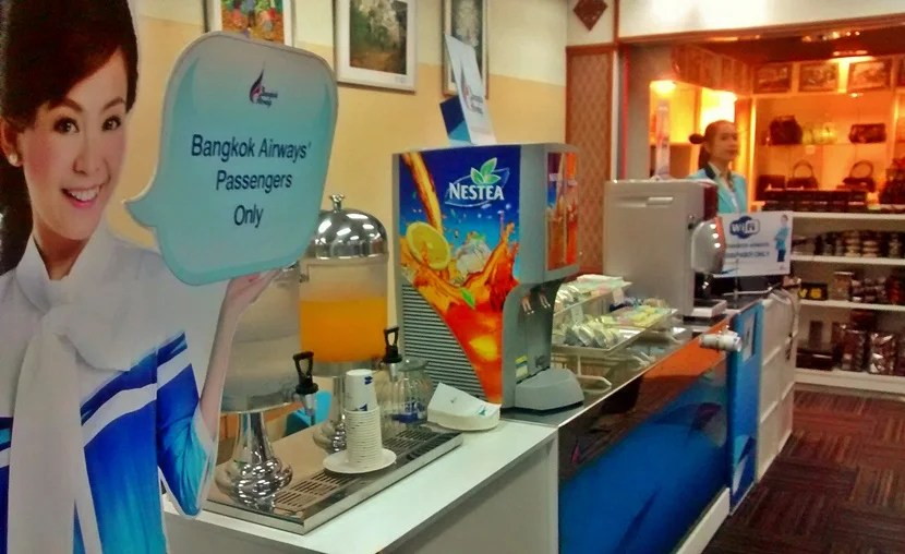 The departure lounge in Chiang Rai, Thailand