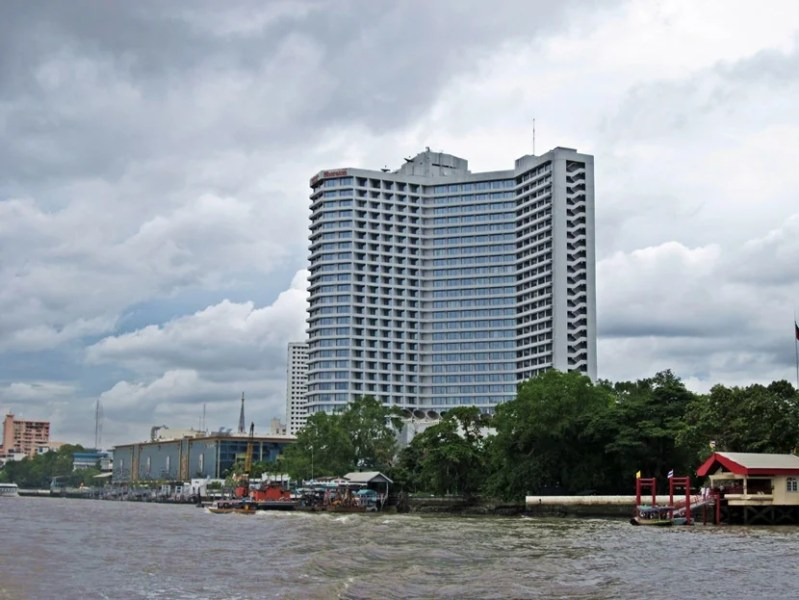 A view of the Royal Orchid Sheraton from the river