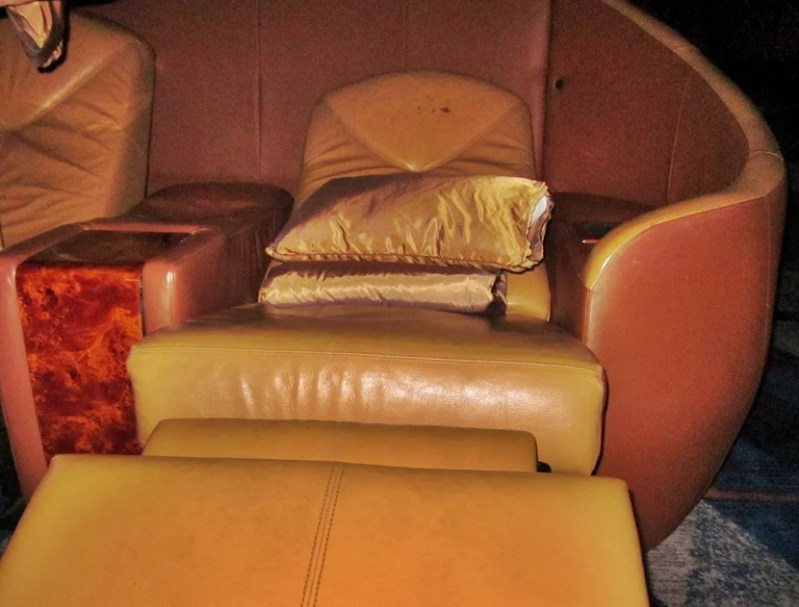VIP seating...strikingly similar to Business class airplane seats