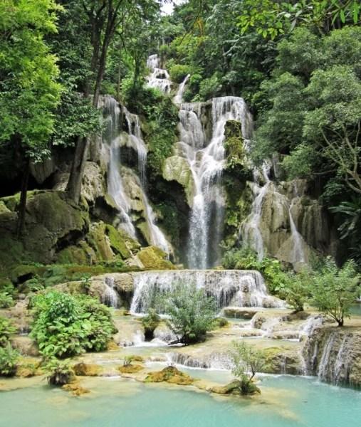 The Kuang Xi Waterfalls are just outside of Luang Prabang.
