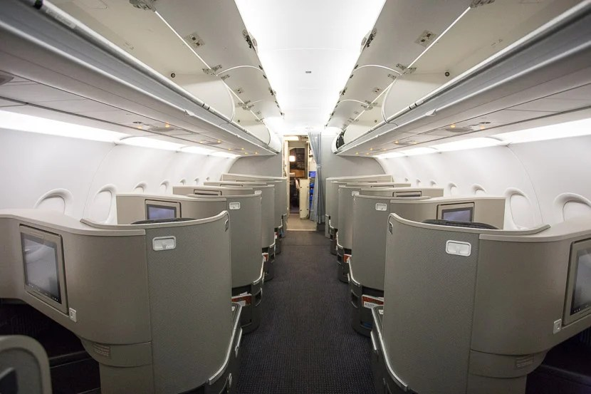 The seats are high enough to have quite a bit of privacy from people walking past you in the aisle.
