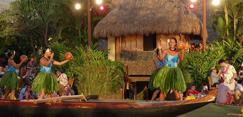 The Luau performance begins at the end of dinner.