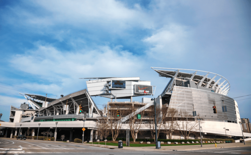 Paul Brown Stadium in Cincinnati, Ohio.