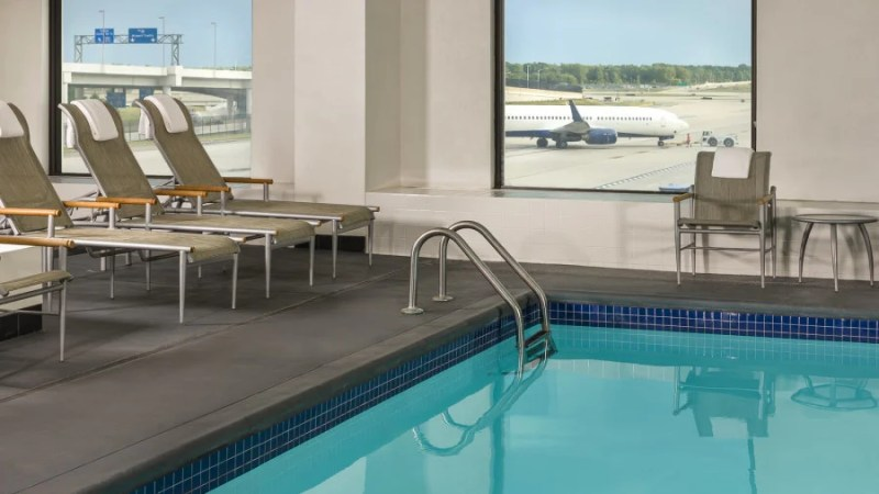 At the Westin, you can swim and plane-watch at the same time. Photo courtesy of the hotel.