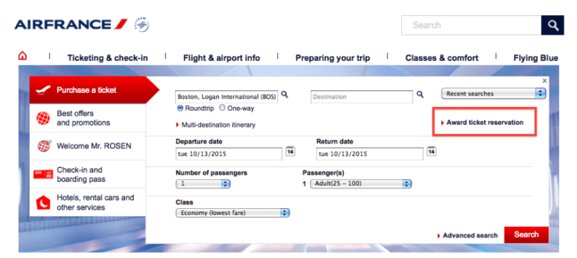 Air France tickets
